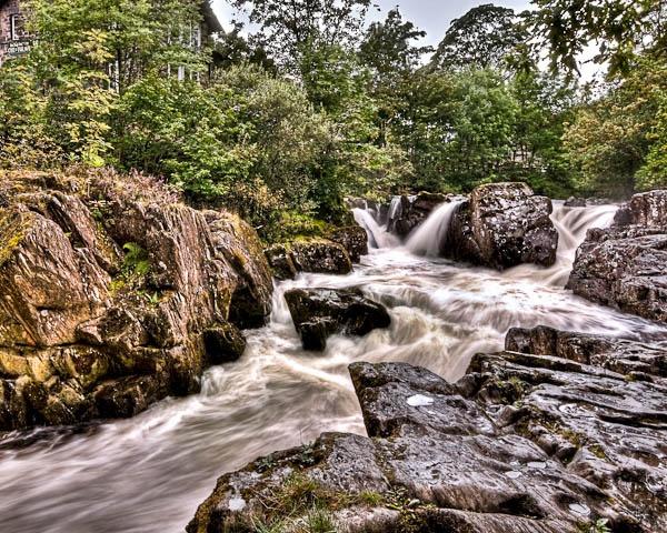 Afon lugwy and Betws-y-Coed by jeni