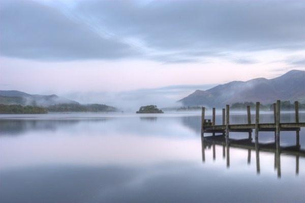 Misty morning at Derwent Lake