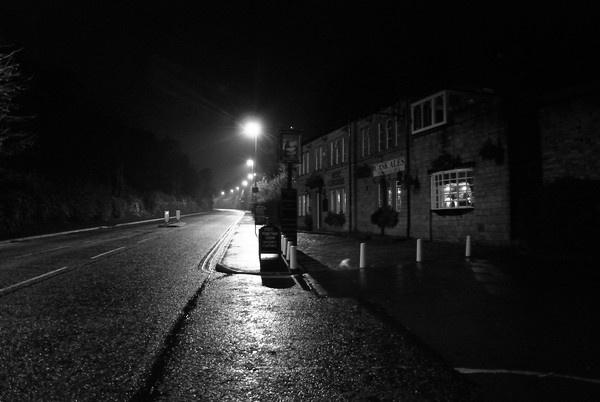 Roe Cross Inn on a wet night by FunnyTrickster