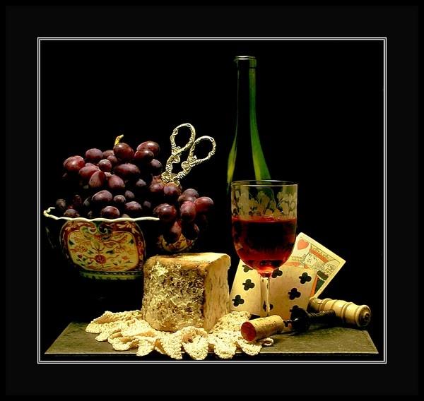 Still Life w Grapes by jacktheknife