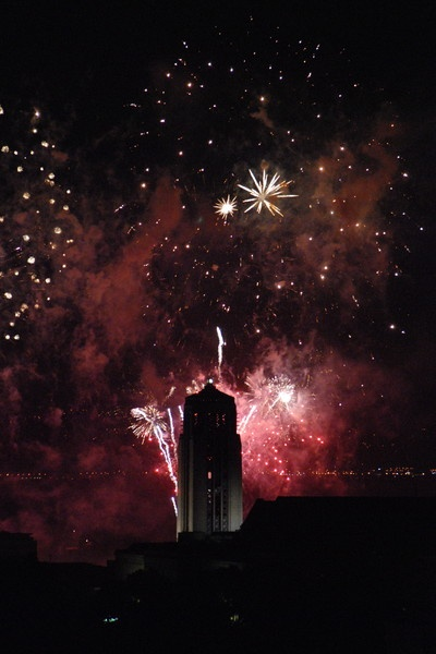 Guy Fawkes fireworks in Wellington, New Zealand by mightymaits