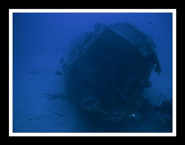 Submerged Yacht, Sabang Wrecks, Mindoro, Philippines by Skier