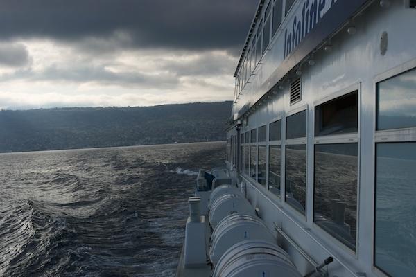 Ferry leaving Evian by JasperD