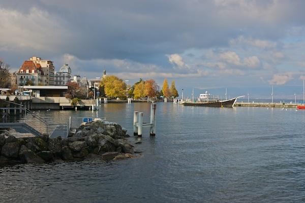 Evian ferry harbor by JasperD