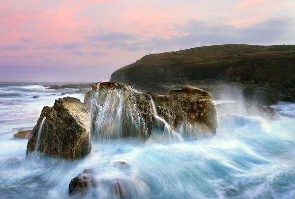 Dawn Tide at Godrevy by Flashman01
