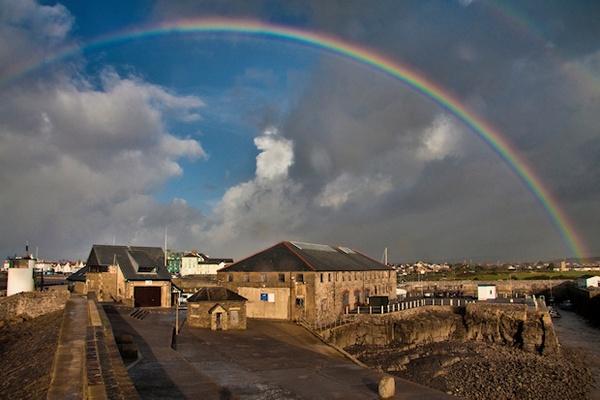Rainbow over Porthcawl by mjstead