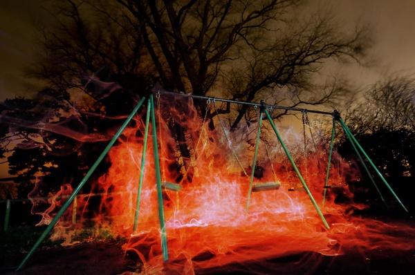 poltergeist  @ night by Diana