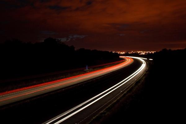 Milton Keynes Light Trails by darrenackers