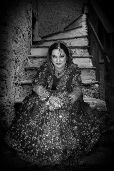 Bride in Black & White by webdady
