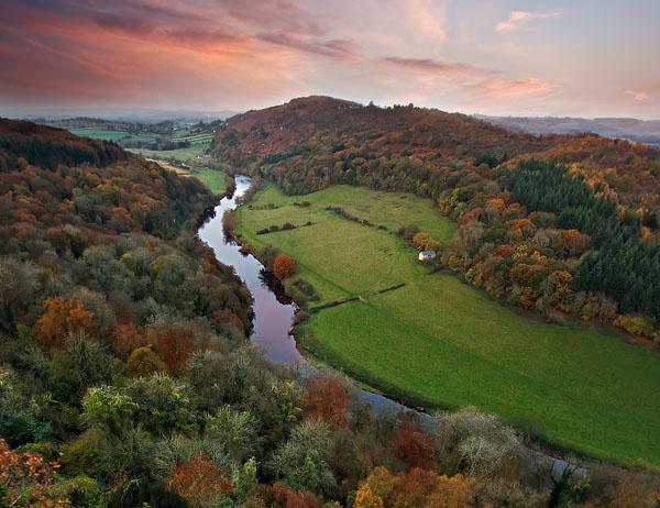 Autumnal Wye Valley by Tynnwrlluniau