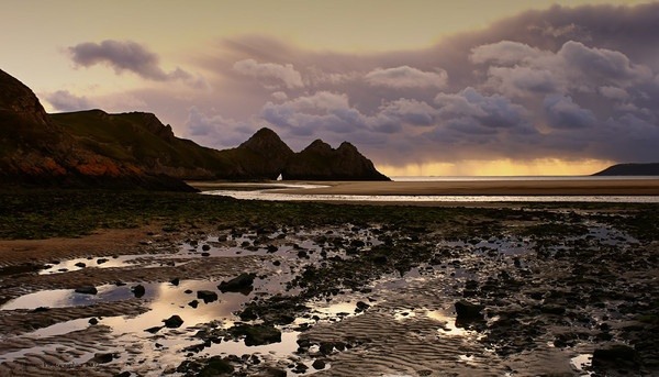 THREE CLIFFS by Imagephotographics