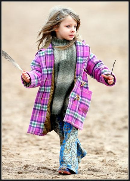 Girl on a beach by PJSPhotography