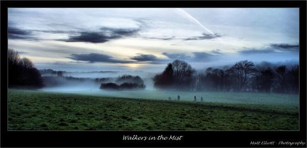 Walkers in the Mist by matteee