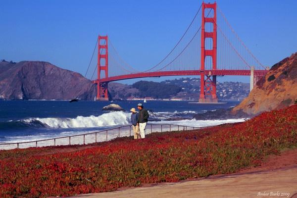 Romance at the Golden Gate Bridge by ABurke