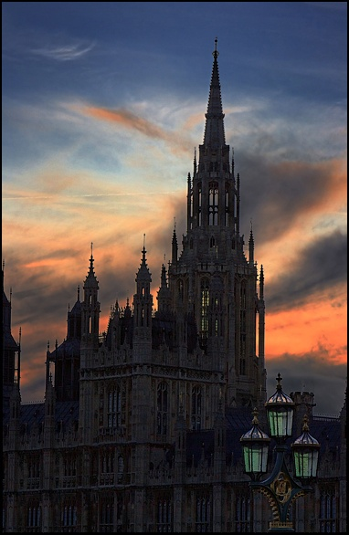 Westminster Central Tower at Sunset by malc_c