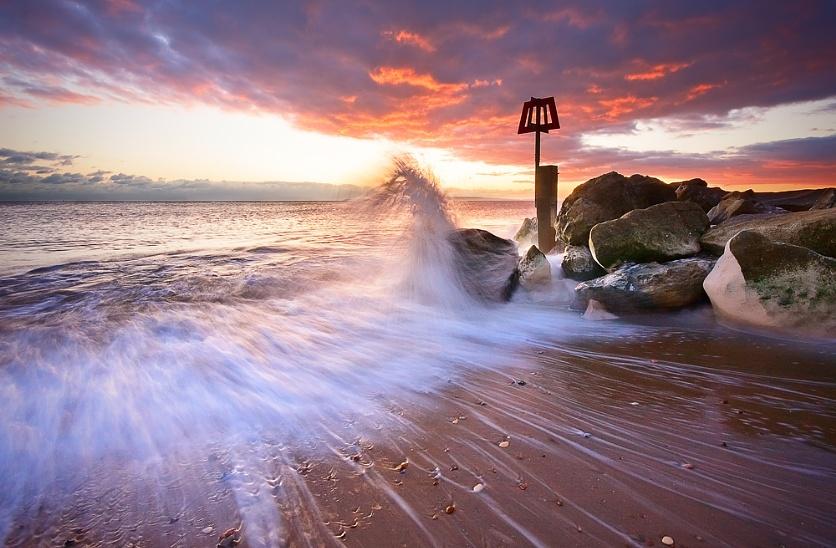Hengistbury Sunset - Wave