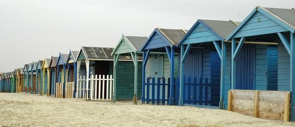 December Beach Huts by Beckyphotos