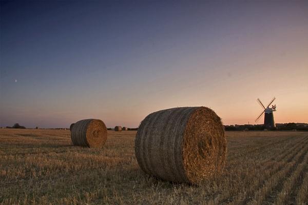 North Norfolk Straw Bales and Bircham Windmill by smartiemart