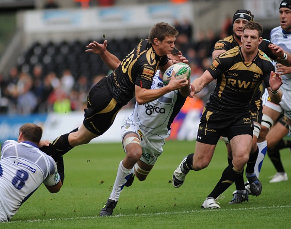 Ospreys fly-half Danny Bigger by buttyboy
