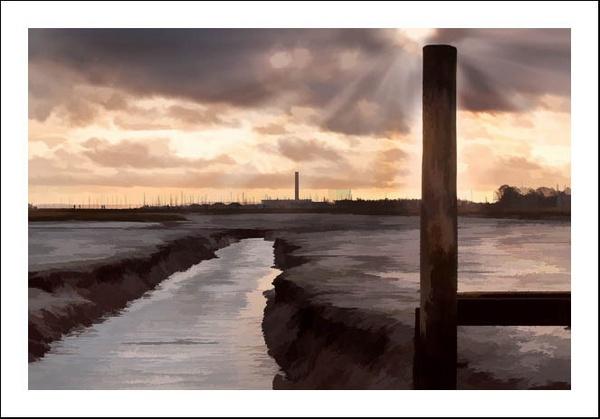 Hamble low tide by Sloman