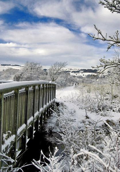 Snowy bridge by SKSmiv