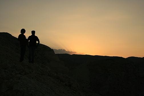 Sunset at Bar Al Jussa resort Muscat, Oman by madhujitha