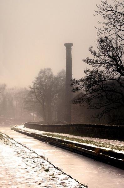 Frozen misty canal by RTR