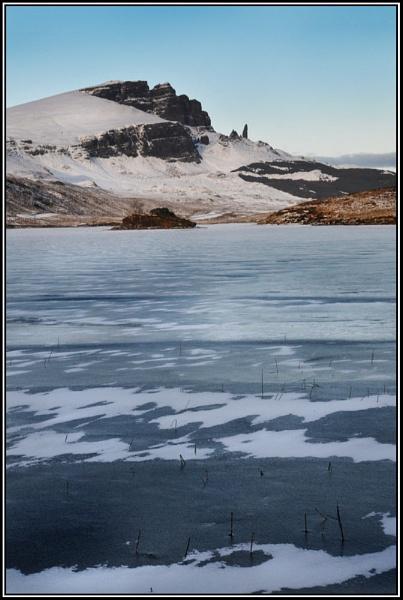 Frozen Storr Lochs, Skye by jimthistle73