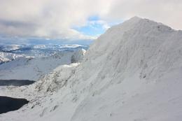 Snowed on on Snowdon