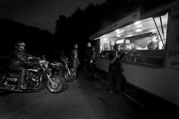 Bikers rest stop by fletchphoto