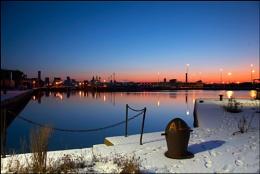 Sunrise over 12 Quays