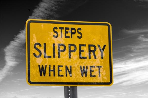 Slippery when wet by wheeldon