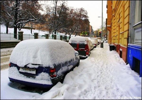 """10 January \""""Sunday Morning, Holeckova st.\"""" by GeorgeRusky"""