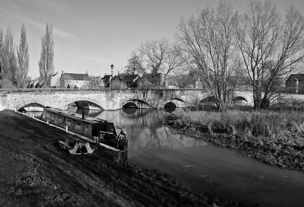 Thrapston Bridge b&w by Ratcatcher