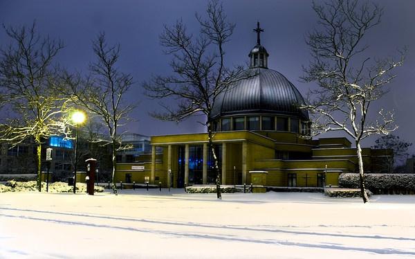 Milton Keynes Church Early Morning by stockdale