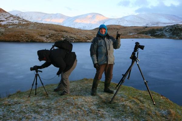Freezing at Llyn Dywarchen by Goggz
