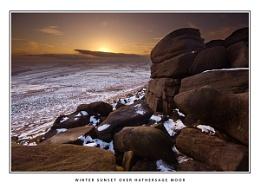 Winter Sunset Over Hathersage Moor