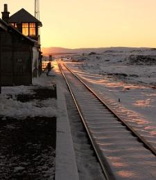 Sunrise at Corrour Station