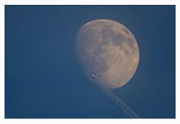 Daytime Moon & Plane