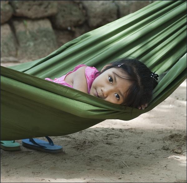 Girl in a hammock – Cambodia by averity