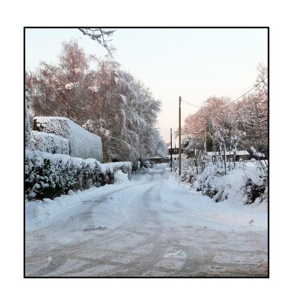 Snowy Lane by balance