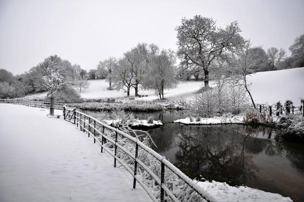 Winter lake by Wallybazoom