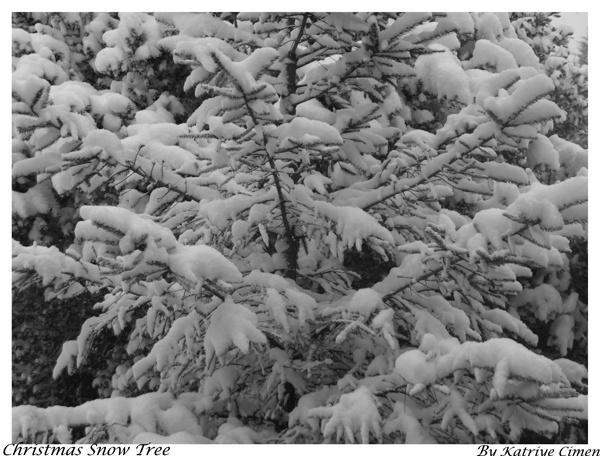 Christmas Snow Tree by kat96