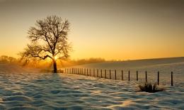 Sunset over Snow