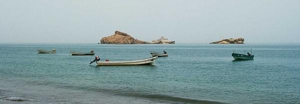 Boats at Beach by madhujitha