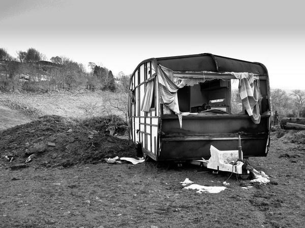 Burnt Out Caravan by Biz79