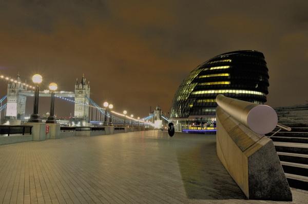 City at night by J_Tom