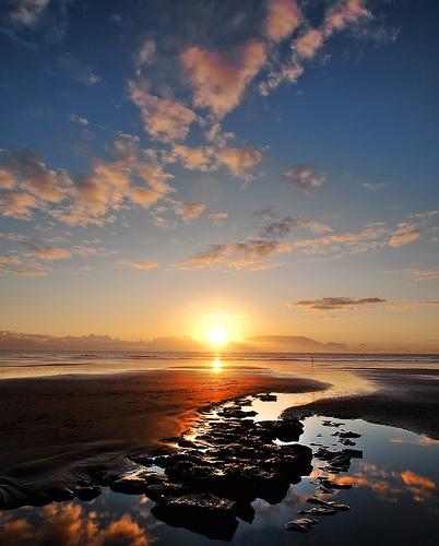 Dunraven Sunset by Fluke