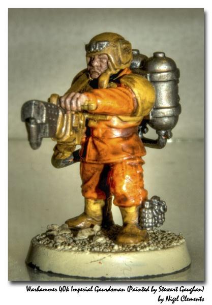 Warhammer 40k Imperial Gaurdsman by NigelClements