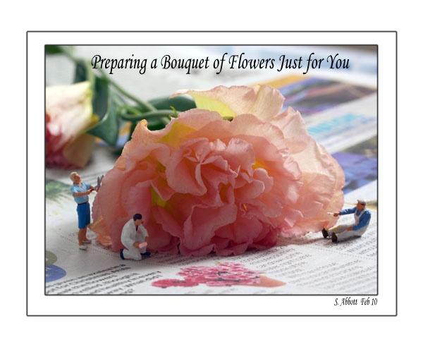 Preparing a Bouquet by elaronndy